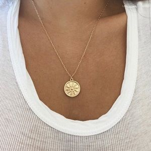 Sun Coin Pendant Necklace